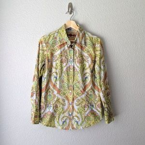 Robert Graham Paisley Embroidered Button Down Top